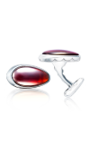 Tacori Cabochon Vented Cuff Links featuring Garnet over Mother of Pearl Cufflinks MCL11441