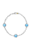 Tacori Triple Gem Bracelet featuring Swiss Blue Topaz SB22145