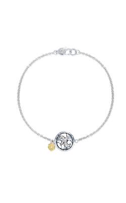 Tacori Pave Monogram Chain Bracelet SB196R