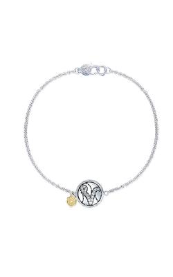 Tacori Pave Monogram Chain Bracelet SB196V