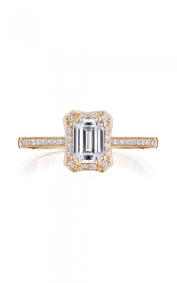 Tacori Coastal Crescent Engagement ring P103EC65X45FPK product image