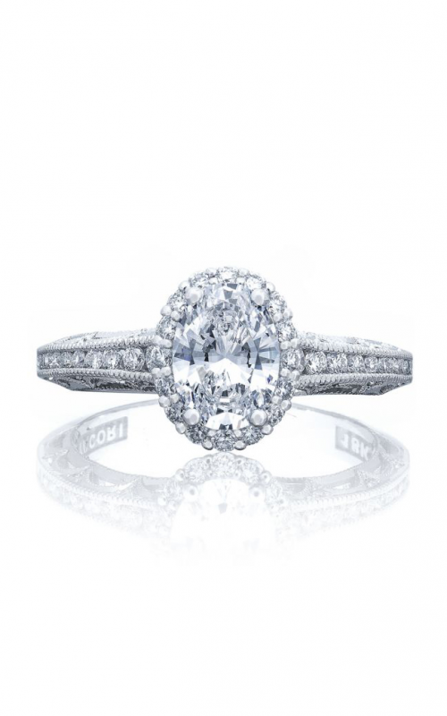 Tacori Reverse Crescent Engagement ring 2618OV75X55W product image