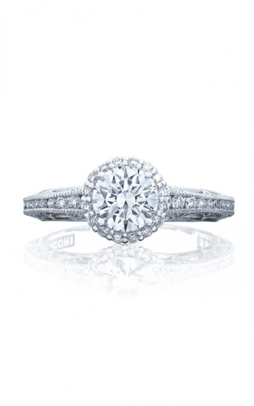 Tacori Reverse Crescent Engagement ring 2618RD6PK product image
