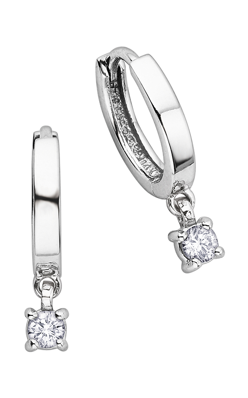 I am Canadian™ Diamond Hoop Earrings EE1872W/25-10 product image