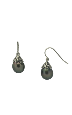 Imperial Pearls Sterling Silver Tahitian Pearl Earring 628087 B product image