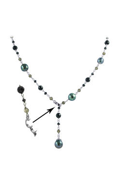 Imperial Pearls Sterling Silver Tahitian Pearl Necklace 668009 product image