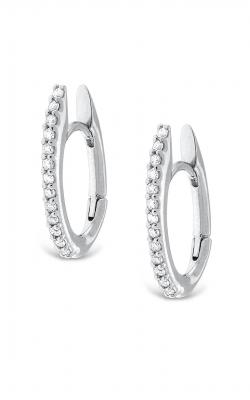 KC Designs Diamond Oval Shape Hoop Earrings  E13258 product image