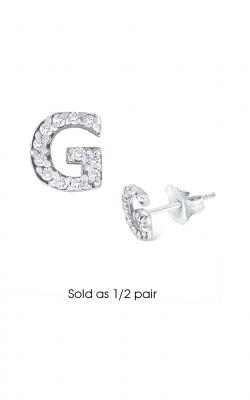 KC Designs Diamond Single Initial Earrings E3171-G product image