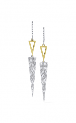 KC Designs Gold and Diamond Geometric Earrings E7208 product image