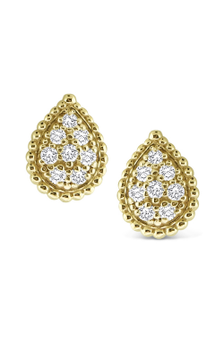 KC Designs 14K Gold and Diamond Pear Studs E1716 product image