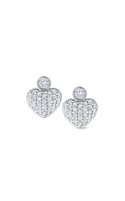 KC Designs 14K Gold and Diamond Small Heart Earrings E1114 product image
