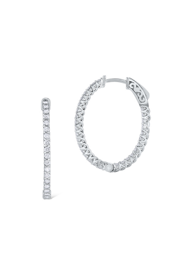 KC Designs Diamond Hoop Earrings E1045 product image