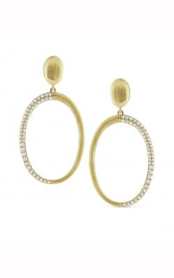 KC Design Brushed Gold Circular Earrings E3472 product image