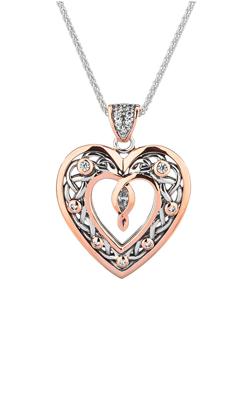Keith Jack Celtic Heart Necklace PPX9165-3-CZ product image