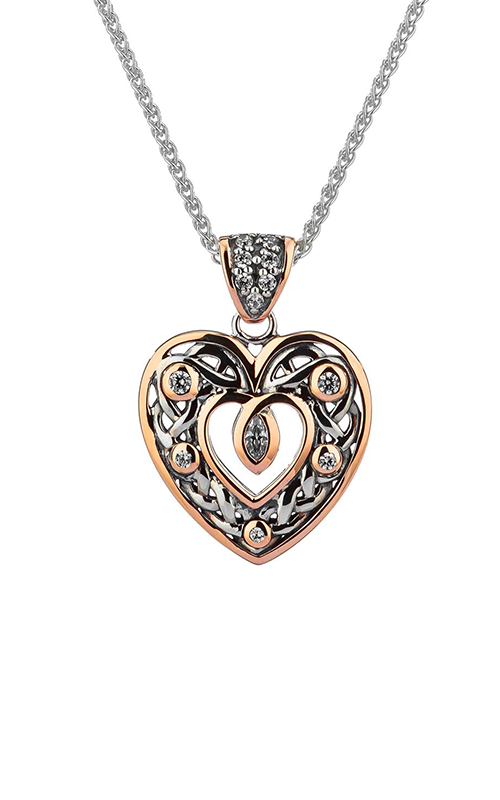 Keith Jack Celtic Heart Necklace PPX9165-3-CZ-S product image