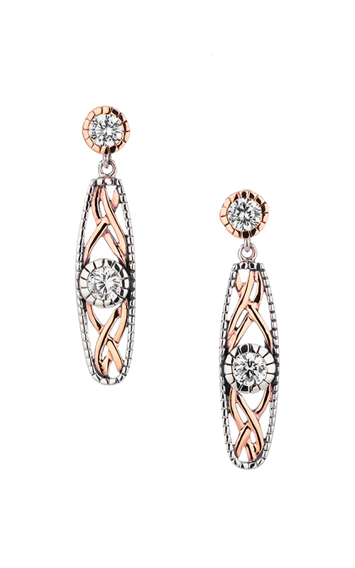 Keith Jack Brave Heart Earrings PEX8885-3-CZ product image