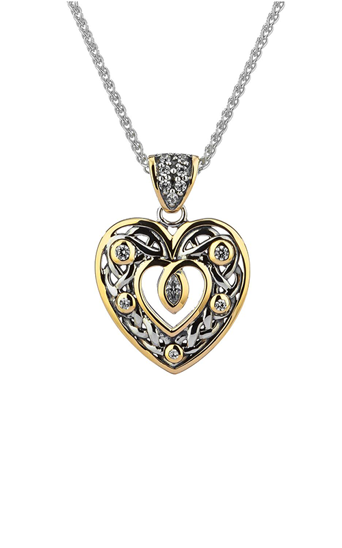 Keith Jack Brave Heart Necklace PPX9165-CZ-S product image