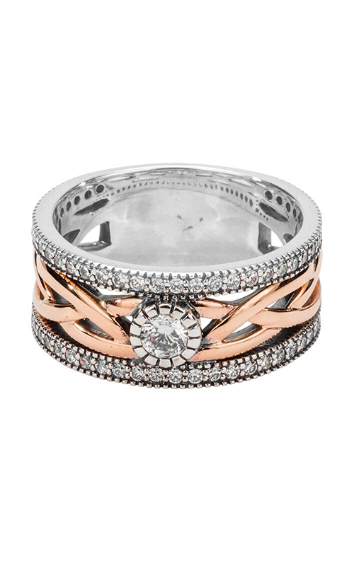 Keith Jack Brave Heart Wedding Band PRX8826-3-CZ product image