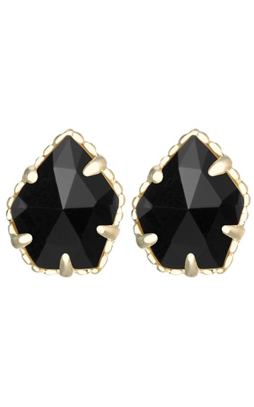 3e55d97ec Kendra Scott Earrings Tessa Gold Black product image. Loading zoom