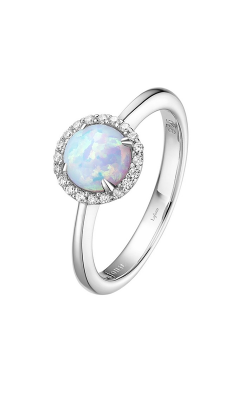 Lafonn Birthstone Halo Ring October Opal BR001OPP product image