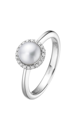 Lafonn Birthstone Halo Ring June Pearl BR001PLP product image