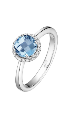 Lafonn Birthstone Halo Ring March Aquamarine BR001AQP product image