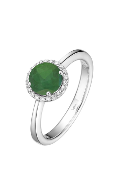 Lafonn Birthstone Halo Ring May Emerald BR001EMP product image