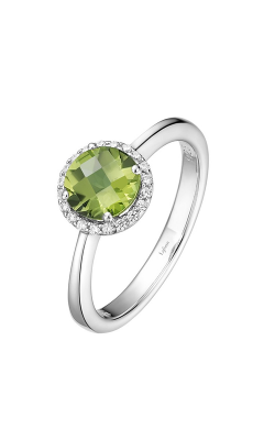 Lafonn Birthstone Halo Ring August Peridot BR001PDP product image