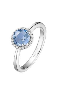 Lafonn Birthstone Halo Ring December Blue Topaz BR001BTP product image