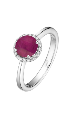 Lafonn Birthstone Halo Ring July Ruby BR001RBP product image