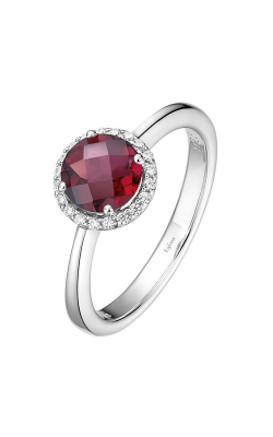 Lafonn Birthstone Halo Ring January Garnet BR001GNP product image