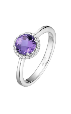 Lafonn Birthstone Halo Ring February Amethyst BR001AMP product image