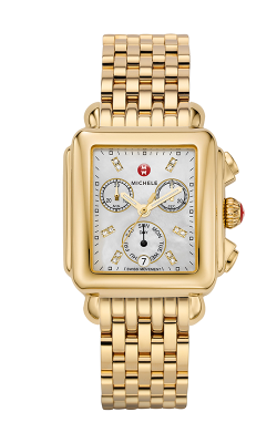 Signature Deco Diamond Dial Gold Watch product image