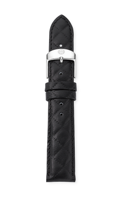 Michele 18mm Black Quilted Calfskin Leather Strap MS18AA370001 product image