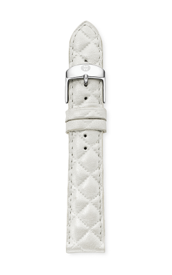 Michele 18mm Whisper White Quilted Leather Strap MS18AA370156 product image
