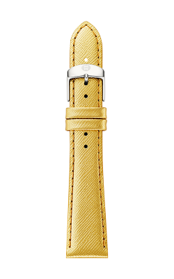Michele 18mm Metallic Gold Saffiano Leather Strap MS18AA430546 product image