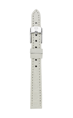 Michele 12mm White Alligator Strap product image