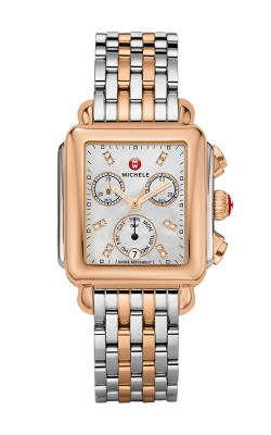 Michele Signature Deco Two-Tone Rose Gold, Diamond Dial Watch product image