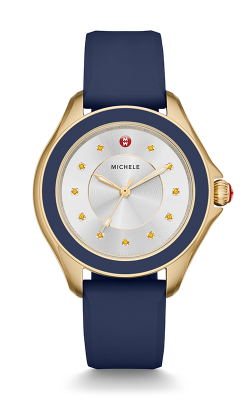 Michele Cape Navy Gold Tone, Topaz Dial Watch MWW27A000013 product image