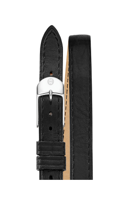 Michele 12MM Black Double Wrap Leather Strap MS12BX270004 product image