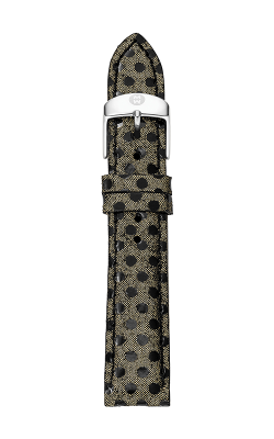 Michele 18MM Gold & Black Dot Leather product image