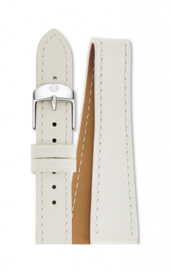 Michele 16mm White Leather Double Wrap MS16BX270100 product image