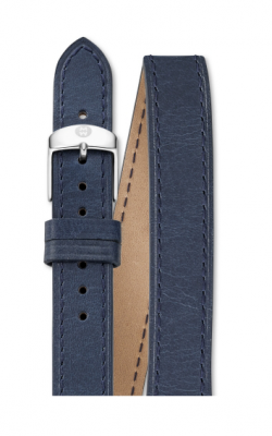 Michele 16mm Navy Leather Double Wrap MS16BX270400 product image