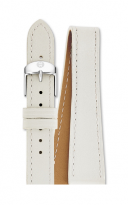 Michele 18mm White Leather Double Wrap MS18BX270100 product image