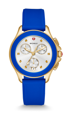 Michele Cape Chrono Gold Cobalt Watch MWW27C000013 product image
