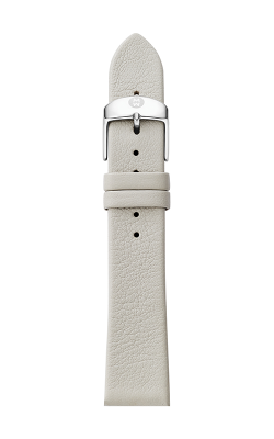 Michele 16mm Light Gray Thin Leather Strap MS16AN060050 product image