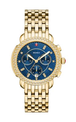 Michele Sidney Diamond Gold, Navy Diamond Dial Watch MW30A01B0956 MS18GA246710 product image