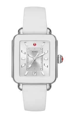 Michele Deco Sport Stainless-Steel And White Silicone Watch MWW06K000004 product image