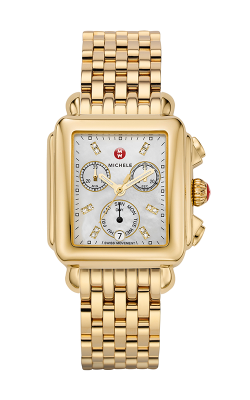 Michele Signature Deco Diamond Dial Gold Watch MW06P00A9046 MS18AU246710 product image