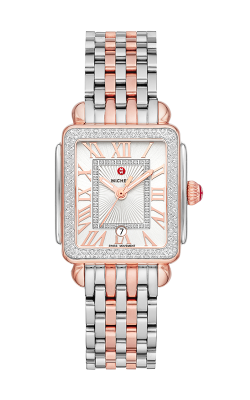 Michele Deco Madison Mid Two-Tone Pink Gold Diamond Watch MW06G01L8120_MS16DM775045 product image